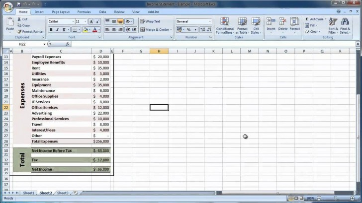 003 Sensational Income Statement Format In Excel With Formula Sample 728