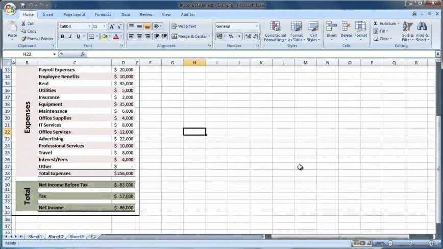 003 Sensational Income Statement Format In Excel With Formula Sample 868