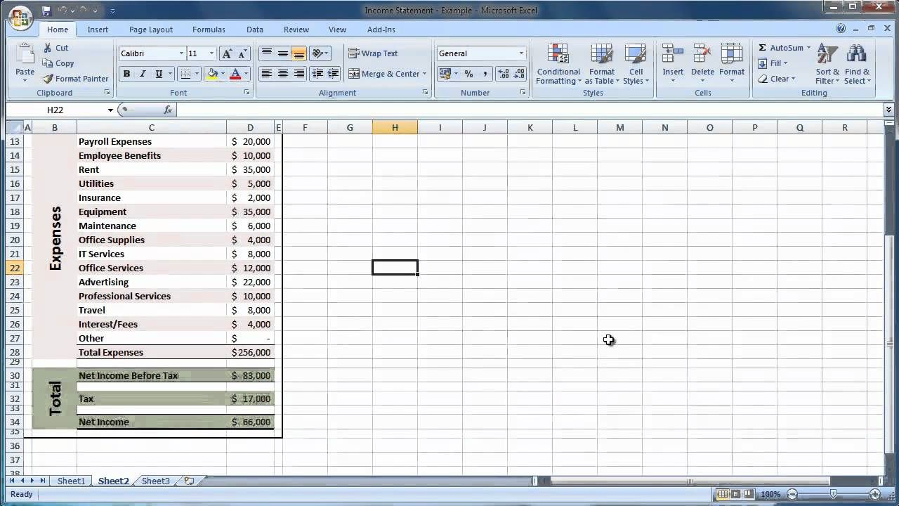 003 Sensational Income Statement Format In Excel With Formula Sample Full