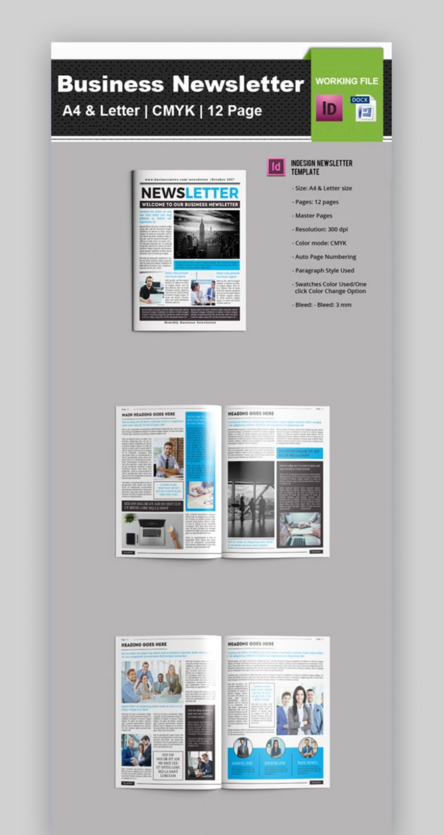003 Sensational Newsletter Template Microsoft Word Idea  Download Free Employee