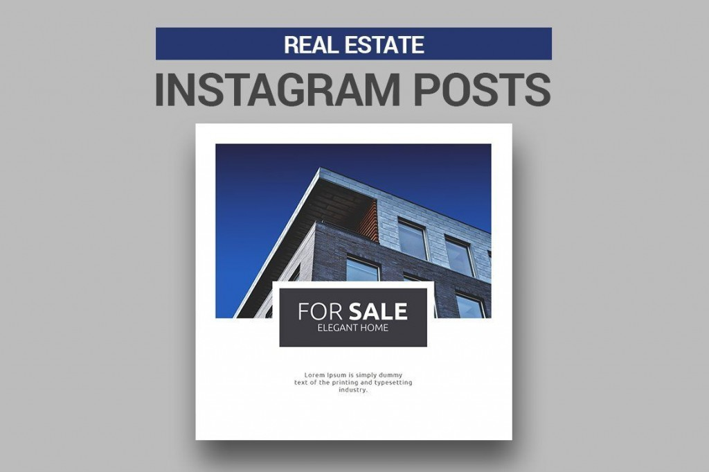 003 Sensational Real Estate Ad Template Photo  Templates Commercial Free Listing Flyer InstagramLarge