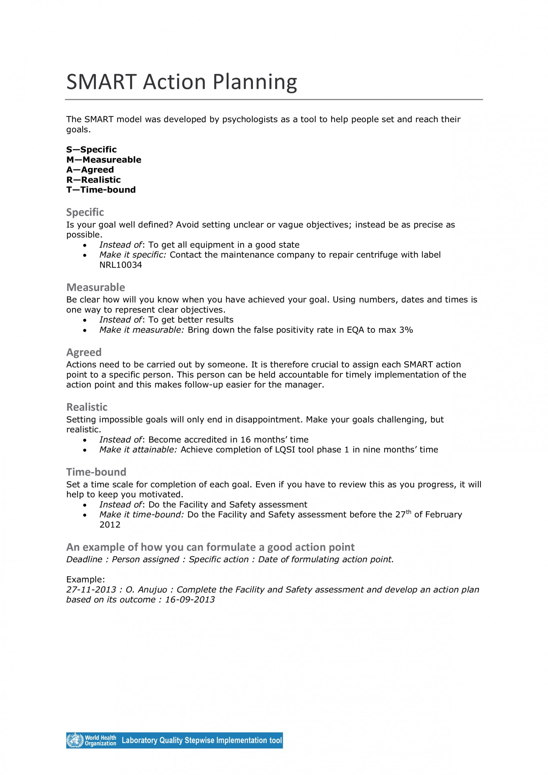 003 Sensational Smart Action Plan Template Example  Nh Download Nursing1920