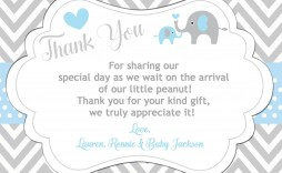 003 Sensational Thank You Note Wording Baby Shower High Definition  For Hosting Card