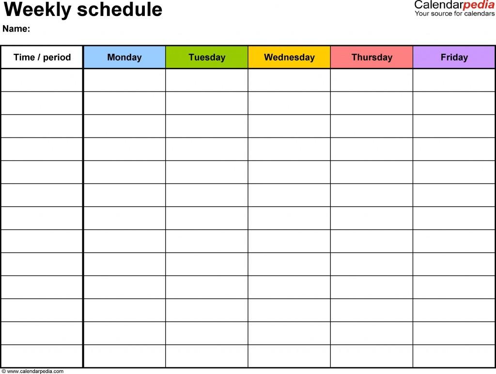 003 Sensational Weekly Schedule Template Word Example  Work Microsoft PlanLarge