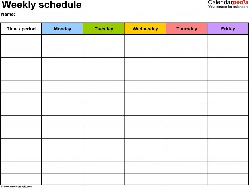003 Sensational Weekly Schedule Template Word Example  Document Editable Download