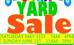 003 Sensational Yard Sale Flyer Template Example  Word Microsoft