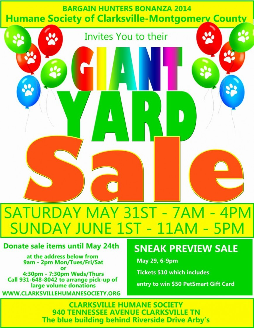 003 Sensational Yard Sale Flyer Template Example  Community Garage Free