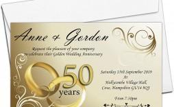 003 Shocking 50th Wedding Anniversary Invitation Design Idea  Designs Wording Sample Card Template Free Download