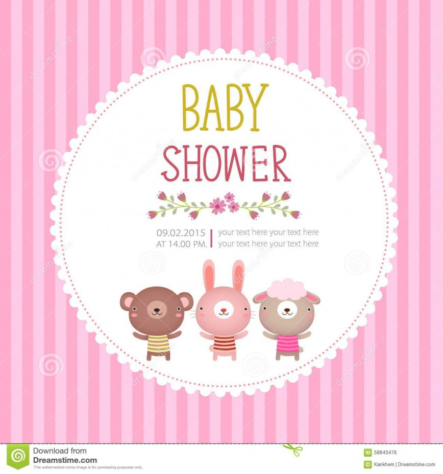 003 Shocking Baby Shower Invitation Card Template Free Download Highest Quality  Indian868