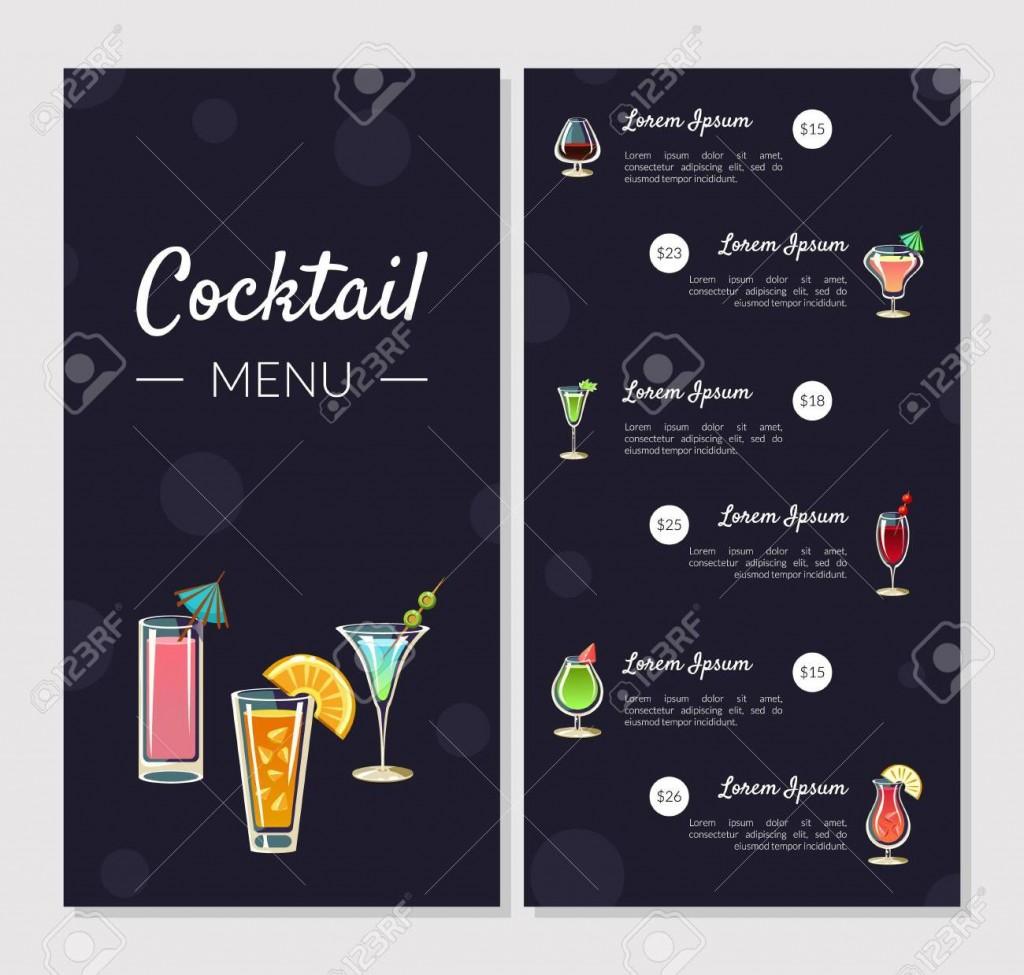 003 Shocking Bar Menu Template Free Concept  Download SnackLarge