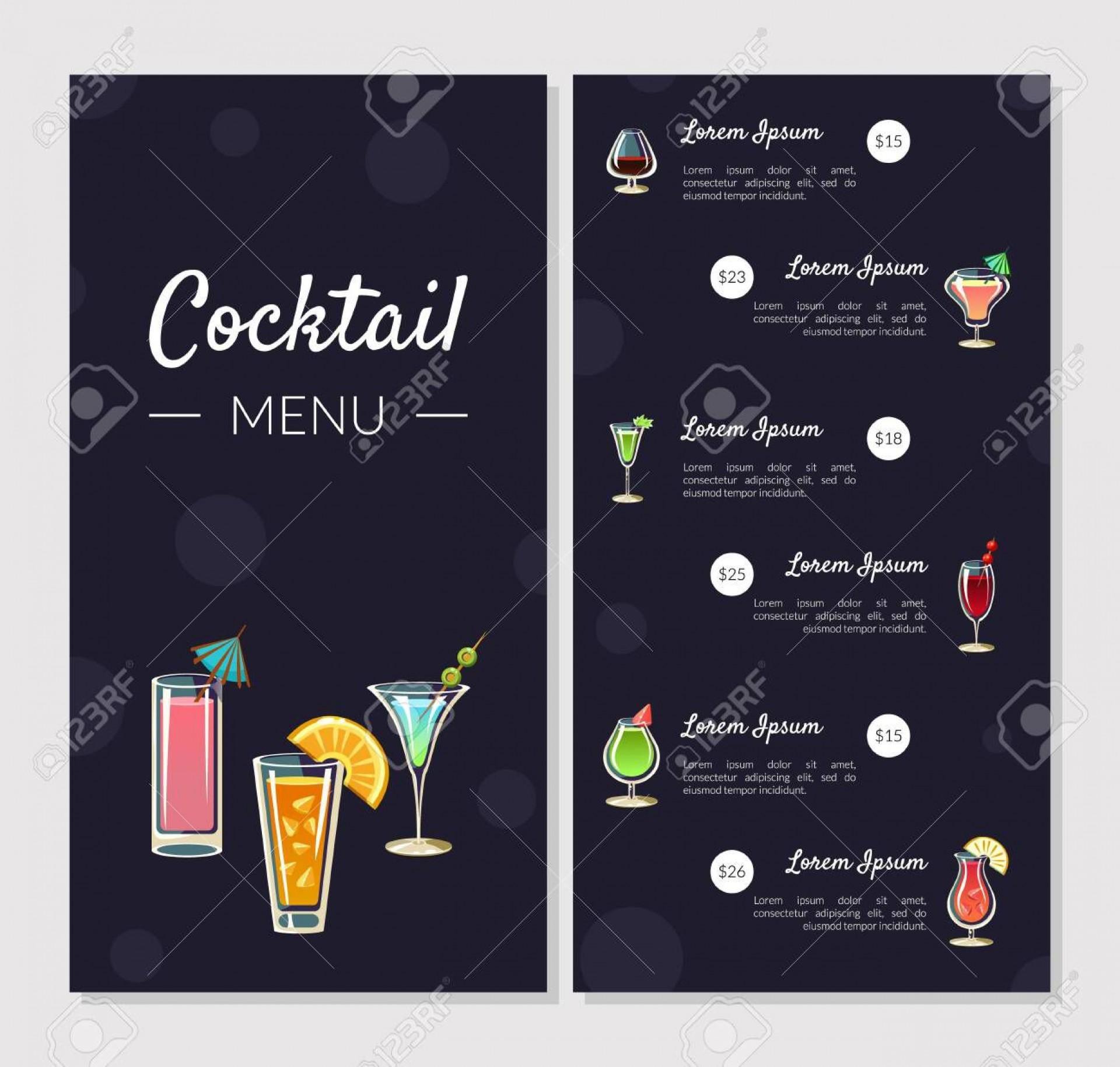 003 Shocking Bar Menu Template Free Concept  Download Snack1920