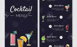 003 Shocking Bar Menu Template Free Concept  Download Snack