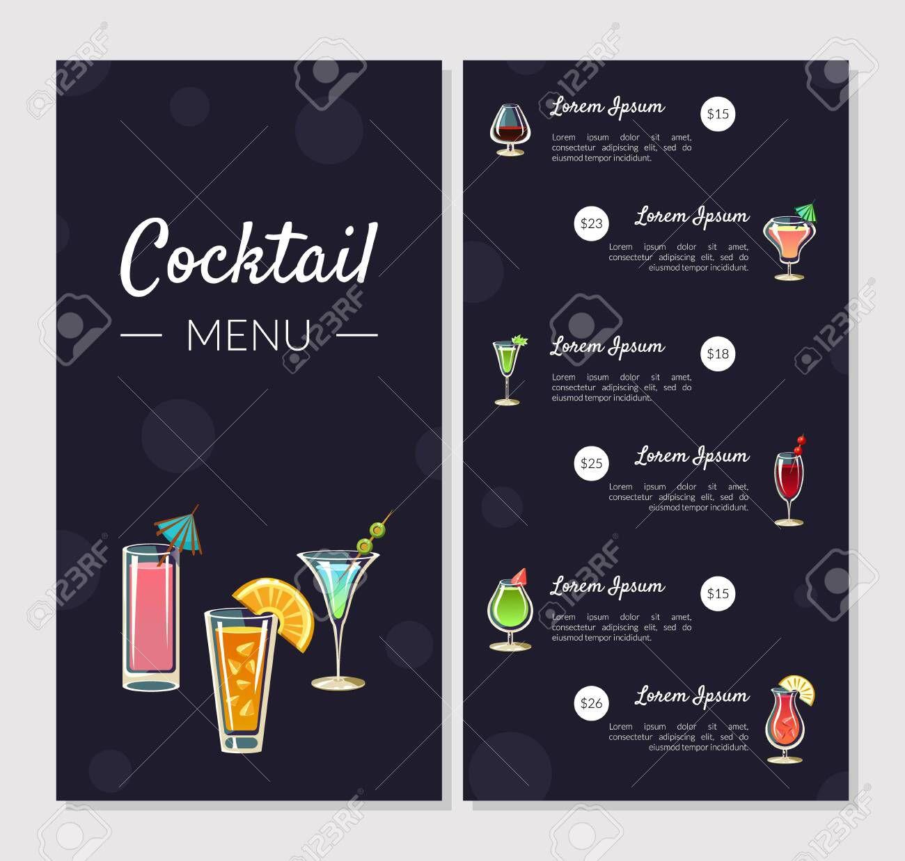 003 Shocking Bar Menu Template Free Concept  Download SnackFull