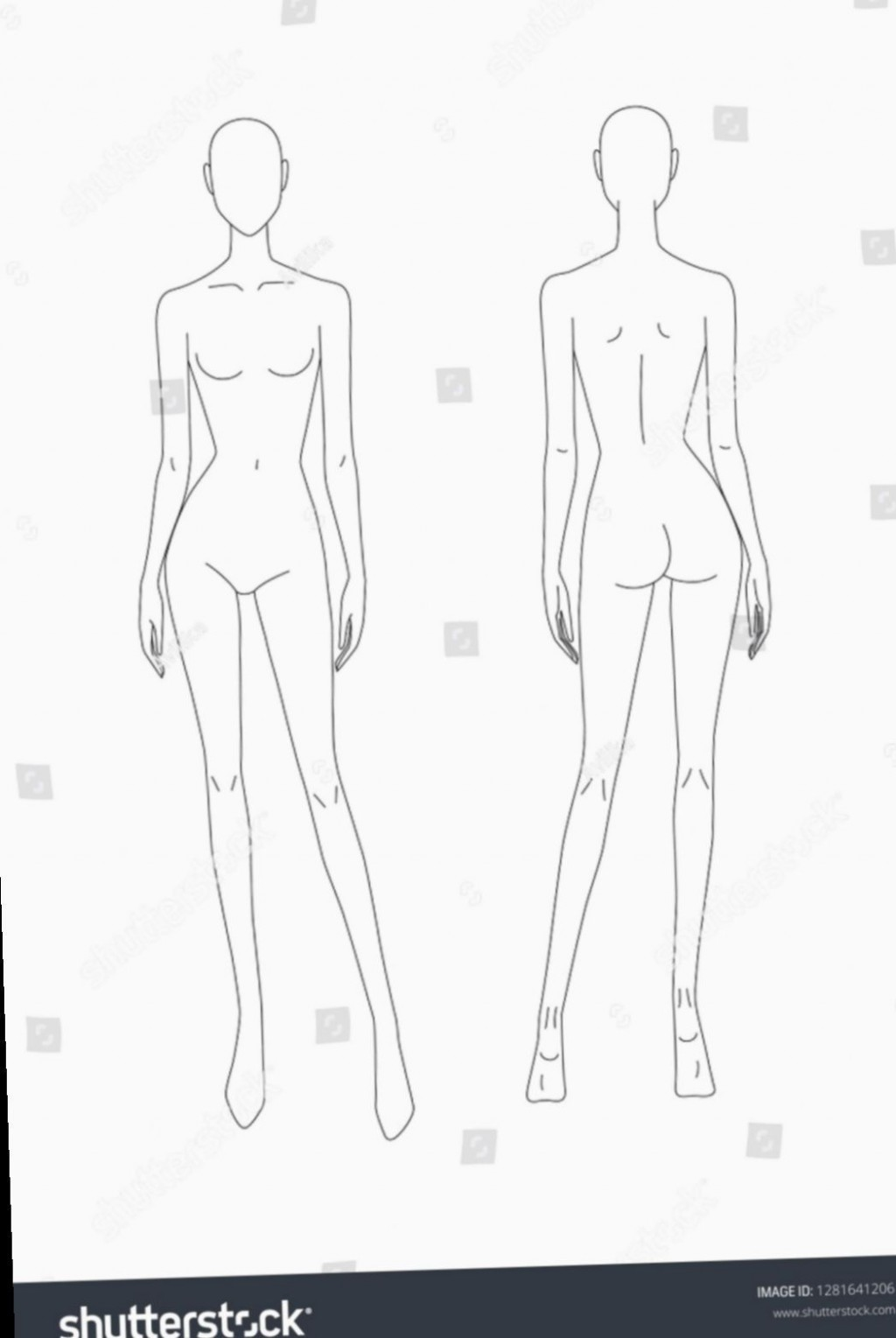 003 Shocking Body Template For Fashion Design Highest Quality  Female Male HumanLarge