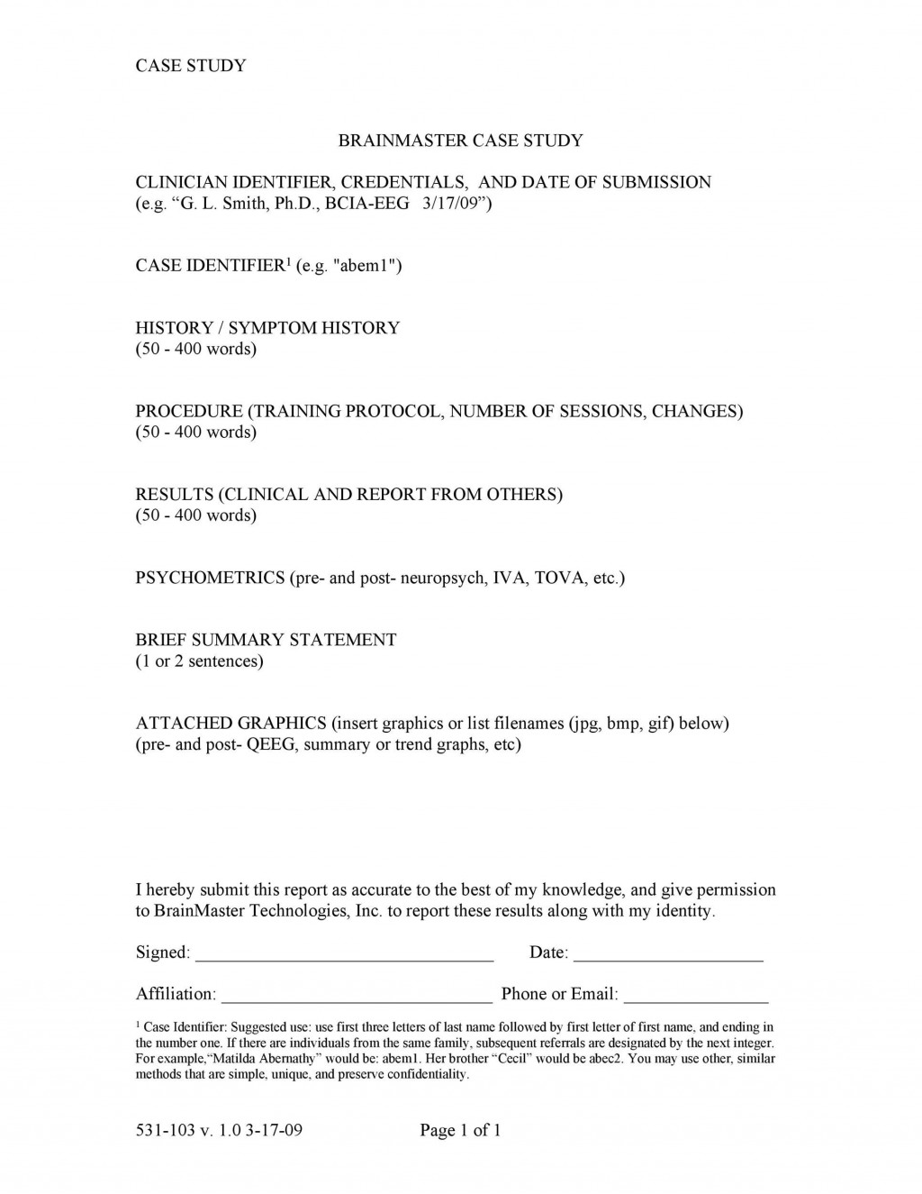 003 Shocking Busines Case Study Template High Def  One Page Download PptLarge