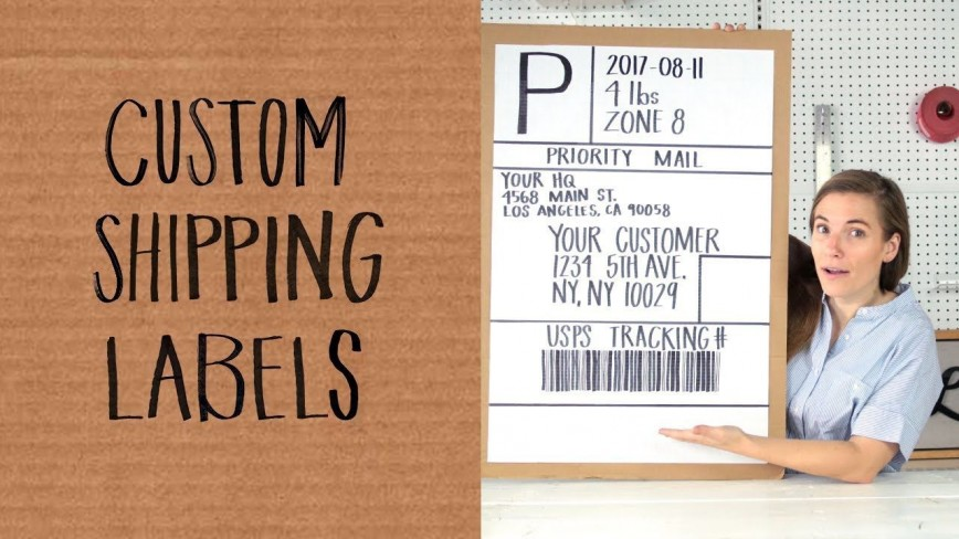 003 Shocking Cute Shipping Label Template Free High Resolution 868