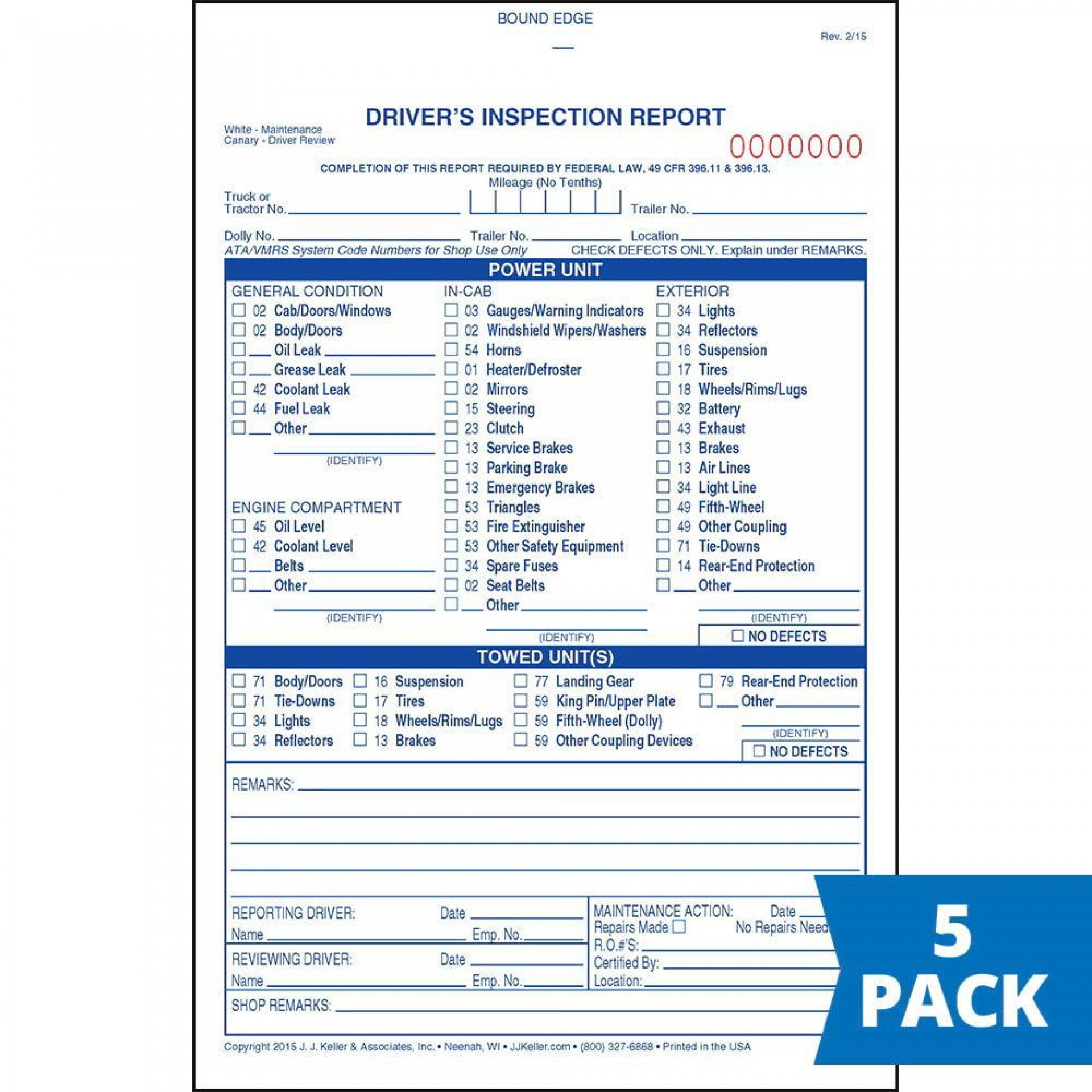 003 Shocking Driver Vehicle Inspection Report Form High Def  Free Driver' Template Downloadable Printable1920