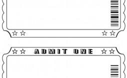 003 Shocking Free Printable Ticket Template Highest Quality  Cruise Raffle Printing