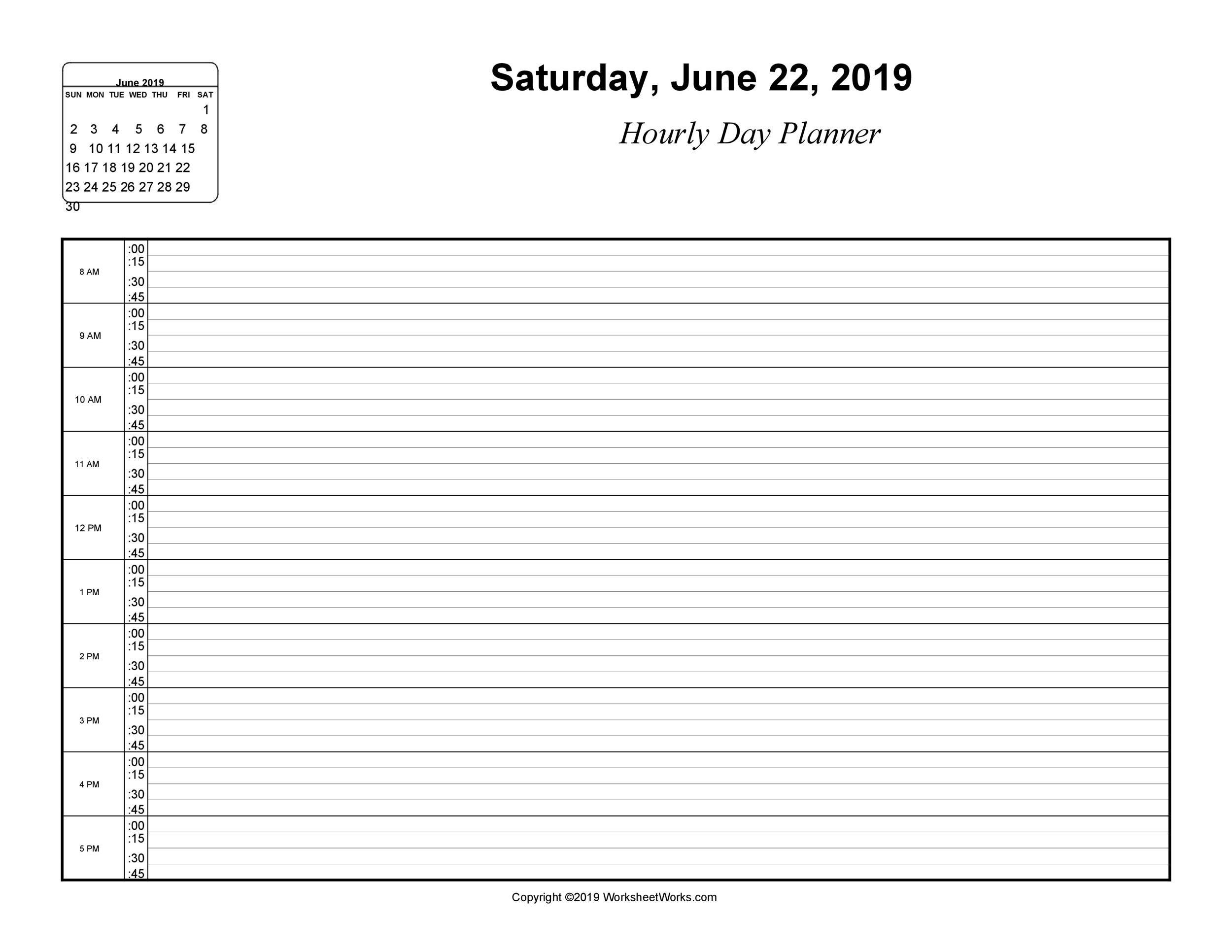 003 Shocking Hourly Schedule Template Word Highest Clarity  Calendar Microsoft WorkFull
