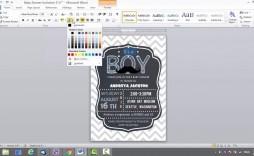 003 Shocking Microsoft Word Invitation Template Baby Shower Picture  Free Editable Invite