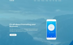 003 Shocking One Page Website Template Free Highest Quality  Bootstrap 4 Html5 Download Wordpres