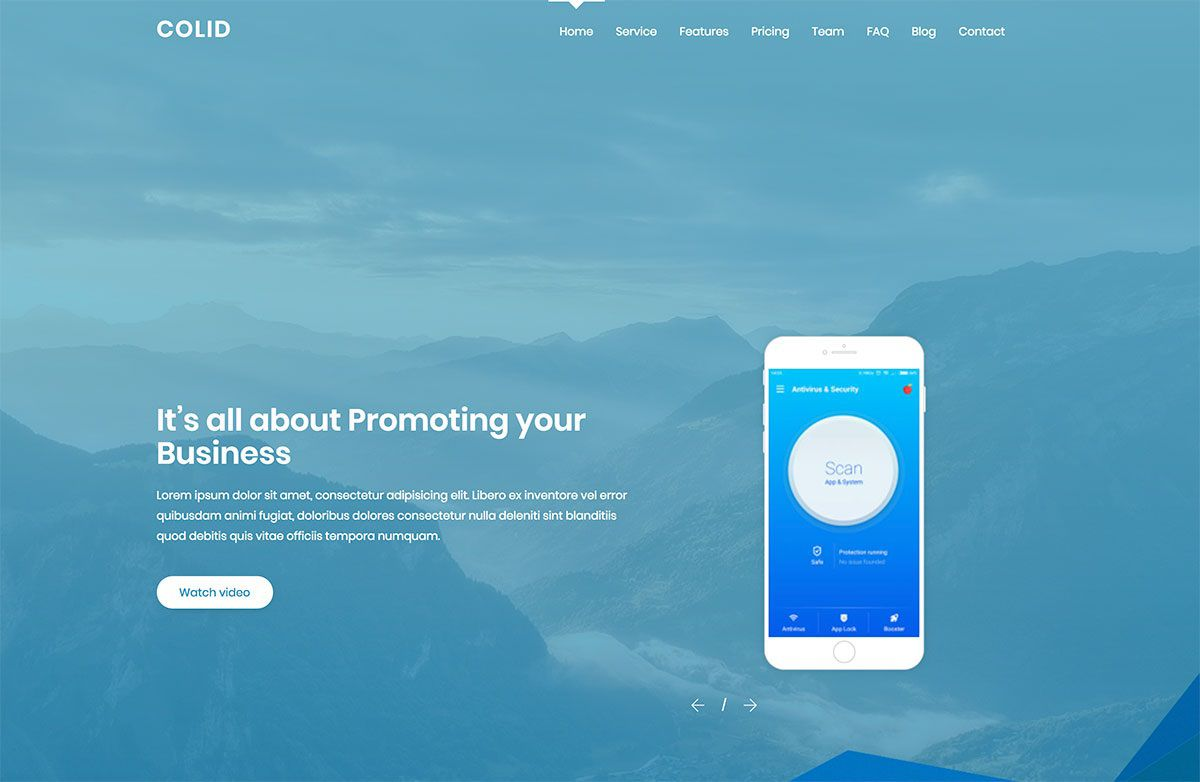 003 Shocking One Page Website Template Free Highest Quality  Bootstrap 4 Html5 Download WordpresFull