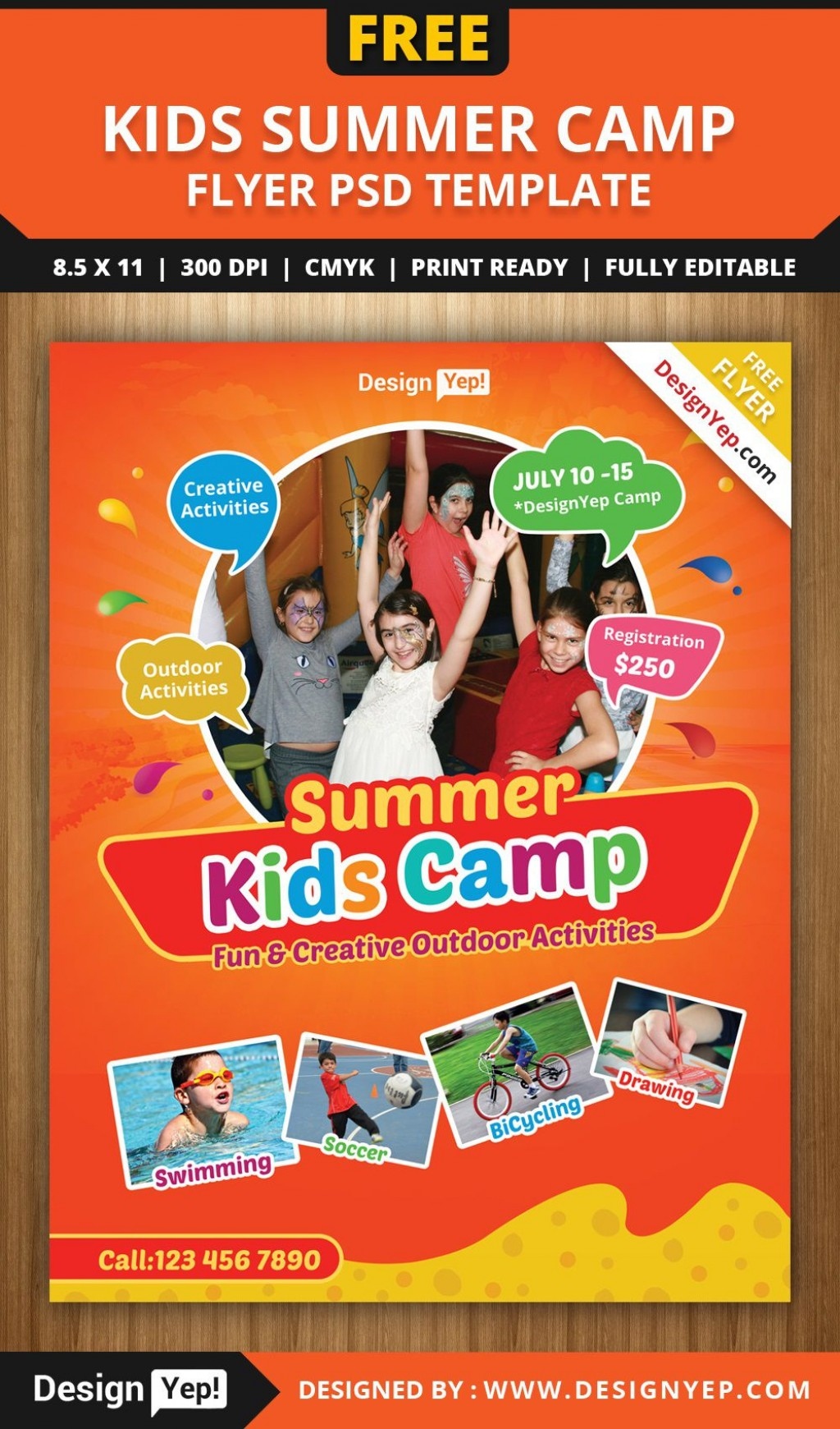 003 Shocking Summer Camp Flyer Template Picture  Day Microsoft Word BackgroundLarge