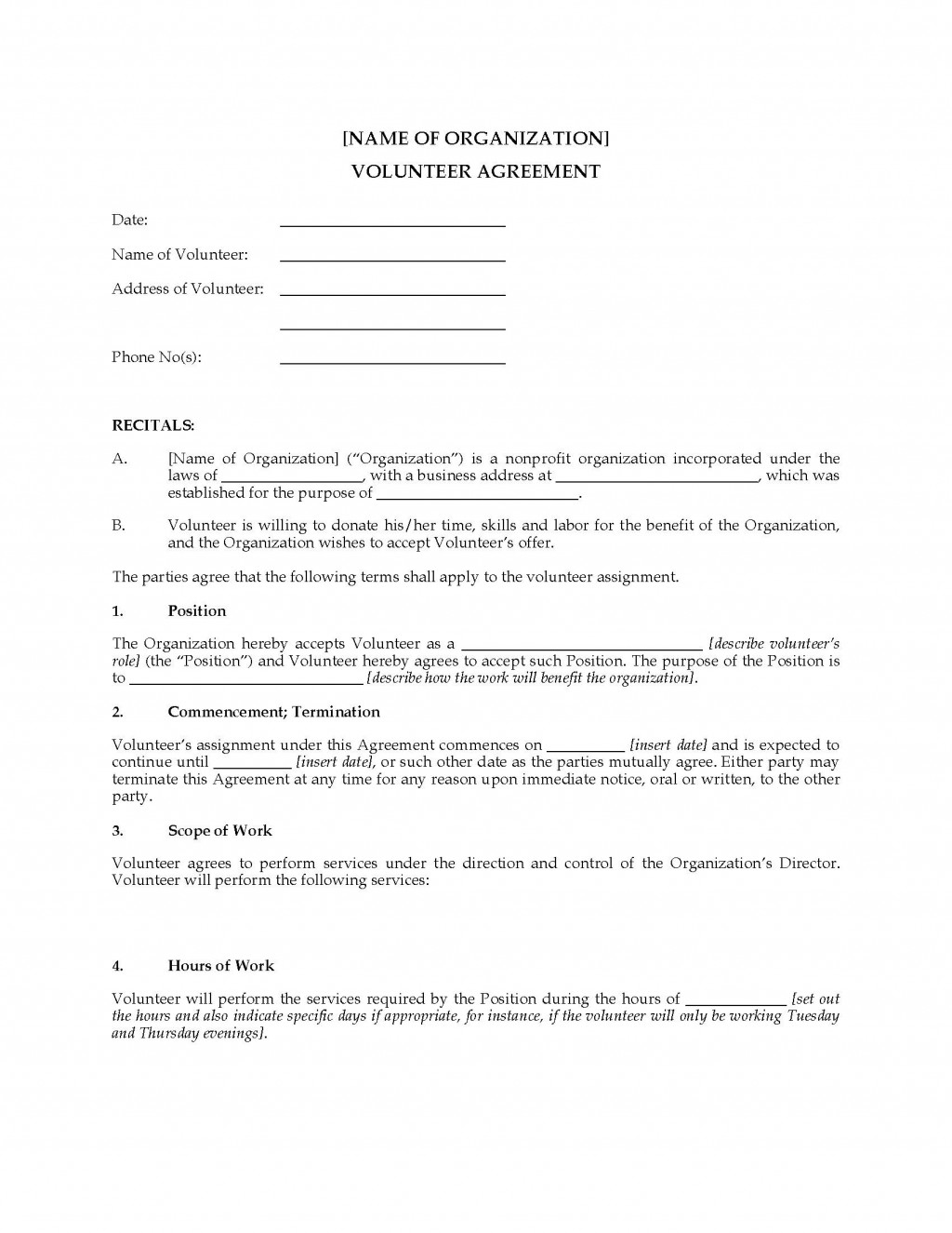 003 Shocking Volunteer Application Template For Nonprofit Photo  Sample FormLarge