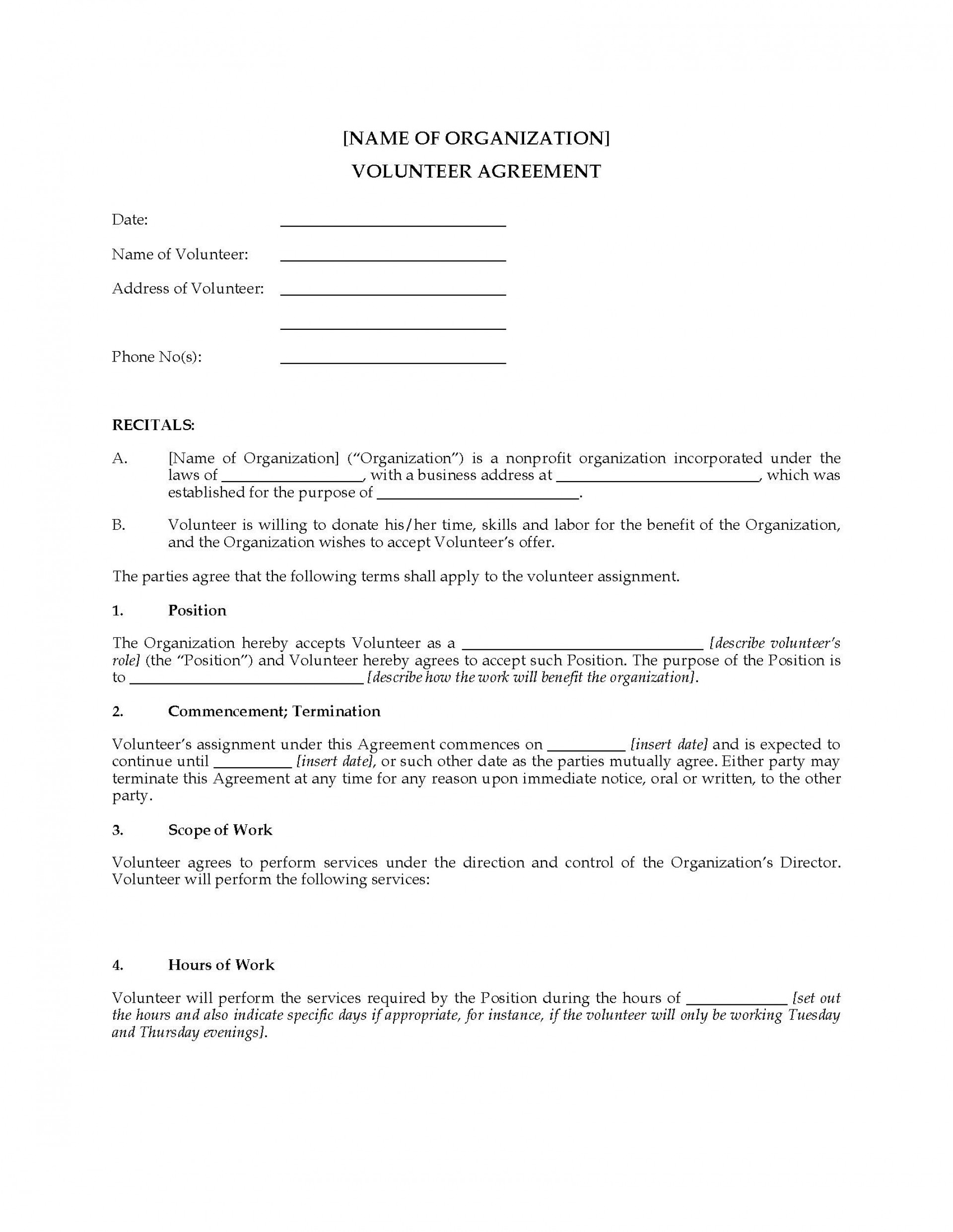003 Shocking Volunteer Application Template For Nonprofit Photo  Sample Form1920