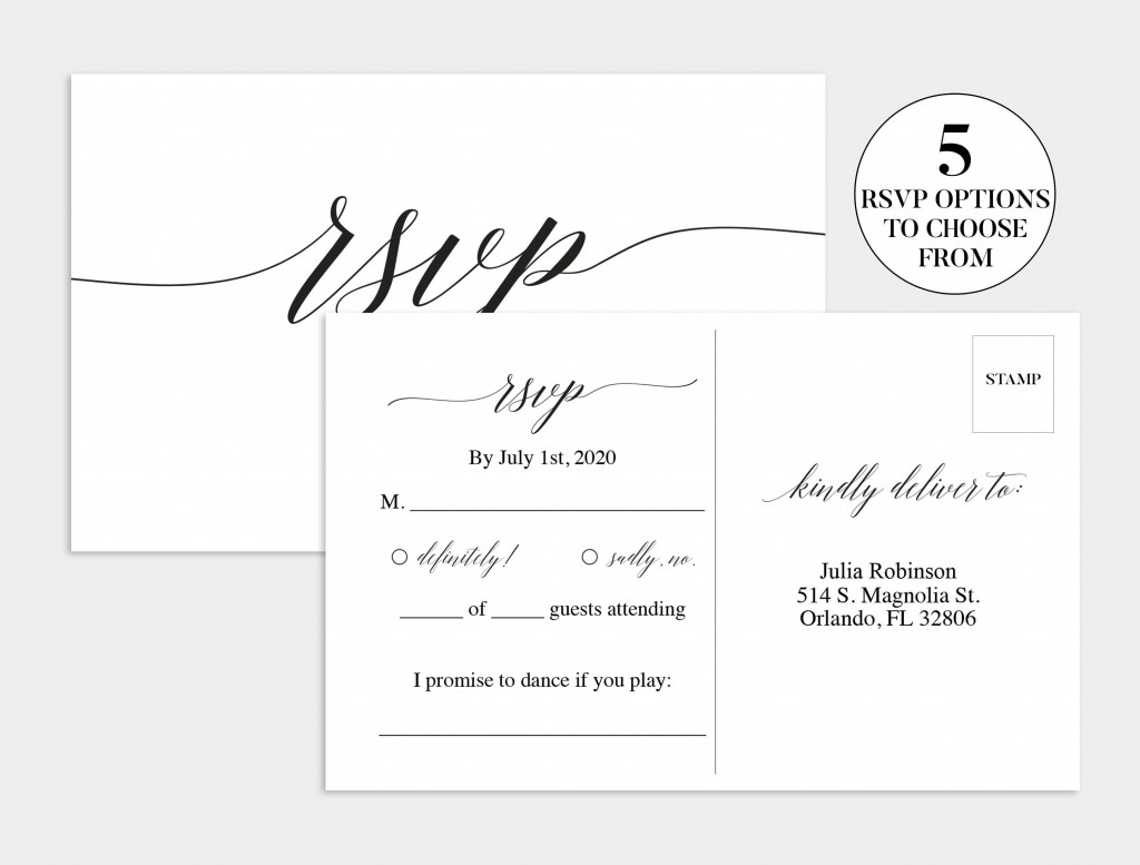 003 Shocking Wedding Rsvp Card Template Highest Clarity  Templates Invitation Menu Free PrintableLarge
