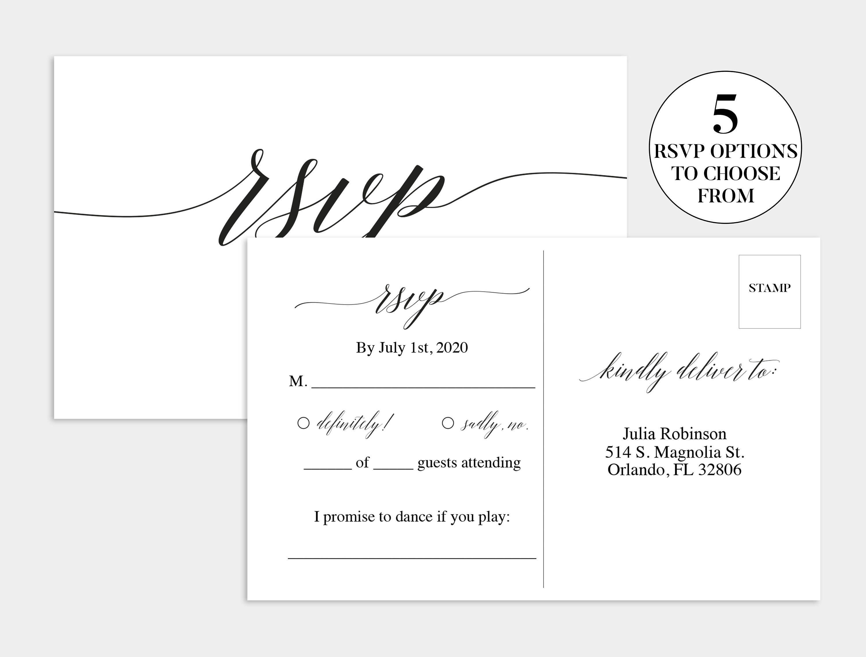 003 Shocking Wedding Rsvp Card Template Highest Clarity  Templates Invitation Menu Free PrintableFull