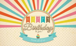 003 Simple Birthday Card Template Photoshop Idea  Greeting Format 4x6 Free