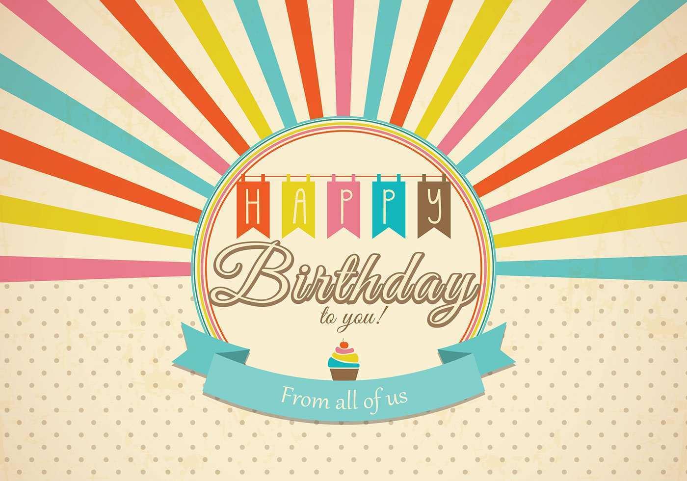 003 Simple Birthday Card Template Photoshop Idea  Greeting Format 4x6 FreeFull