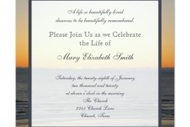 003 Simple Celebration Of Life Invitation Template Free High Def