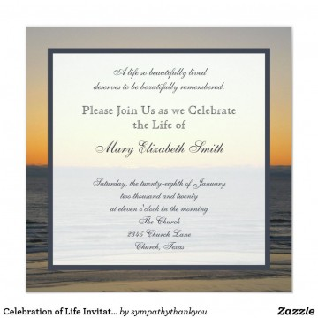 003 Simple Celebration Of Life Invitation Template Free High Def 360