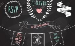 003 Simple Chalkboard Invitation Template Free Sample  Download Wedding Editable