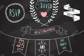 003 Simple Chalkboard Invitation Template Free Sample  Download Wedding