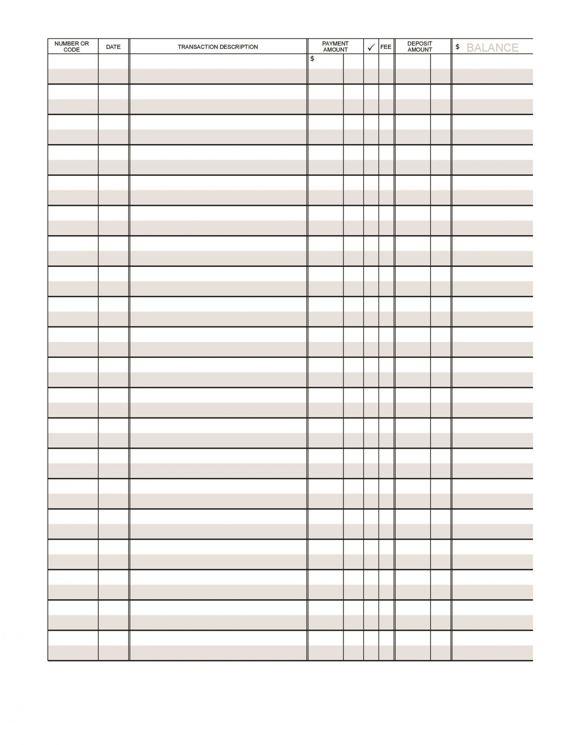 003 Simple Checkbook Register Template Excel High Definition  Check 2007 Balance 20031920