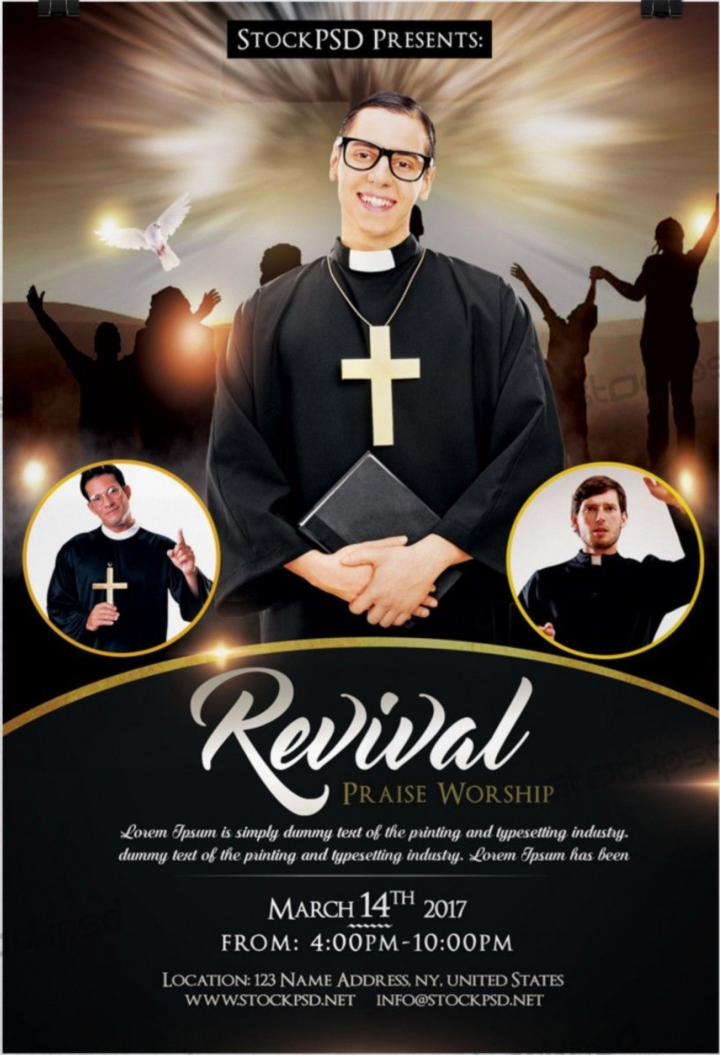 003 Simple Church Flyer Template Free Printable Highest Quality  Event1400