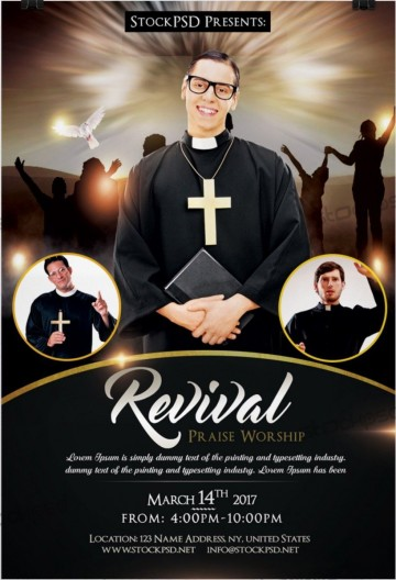 003 Simple Church Flyer Template Free Printable Highest Quality  Event360