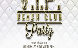 003 Simple Club Party Flyer Template Free High Definition