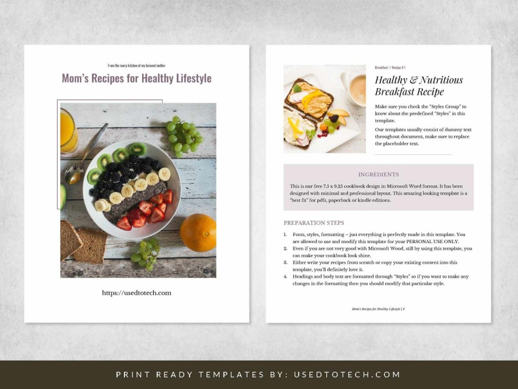 003 Simple Create Your Own Cookbook Template Photo  FreeLarge