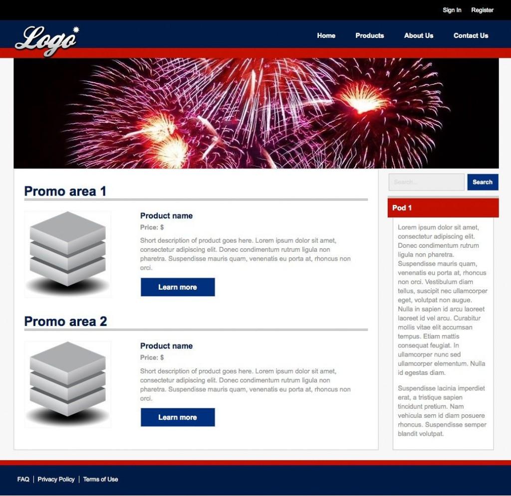 003 Simple Dream Weaver Web Template Image  TemplatesLarge
