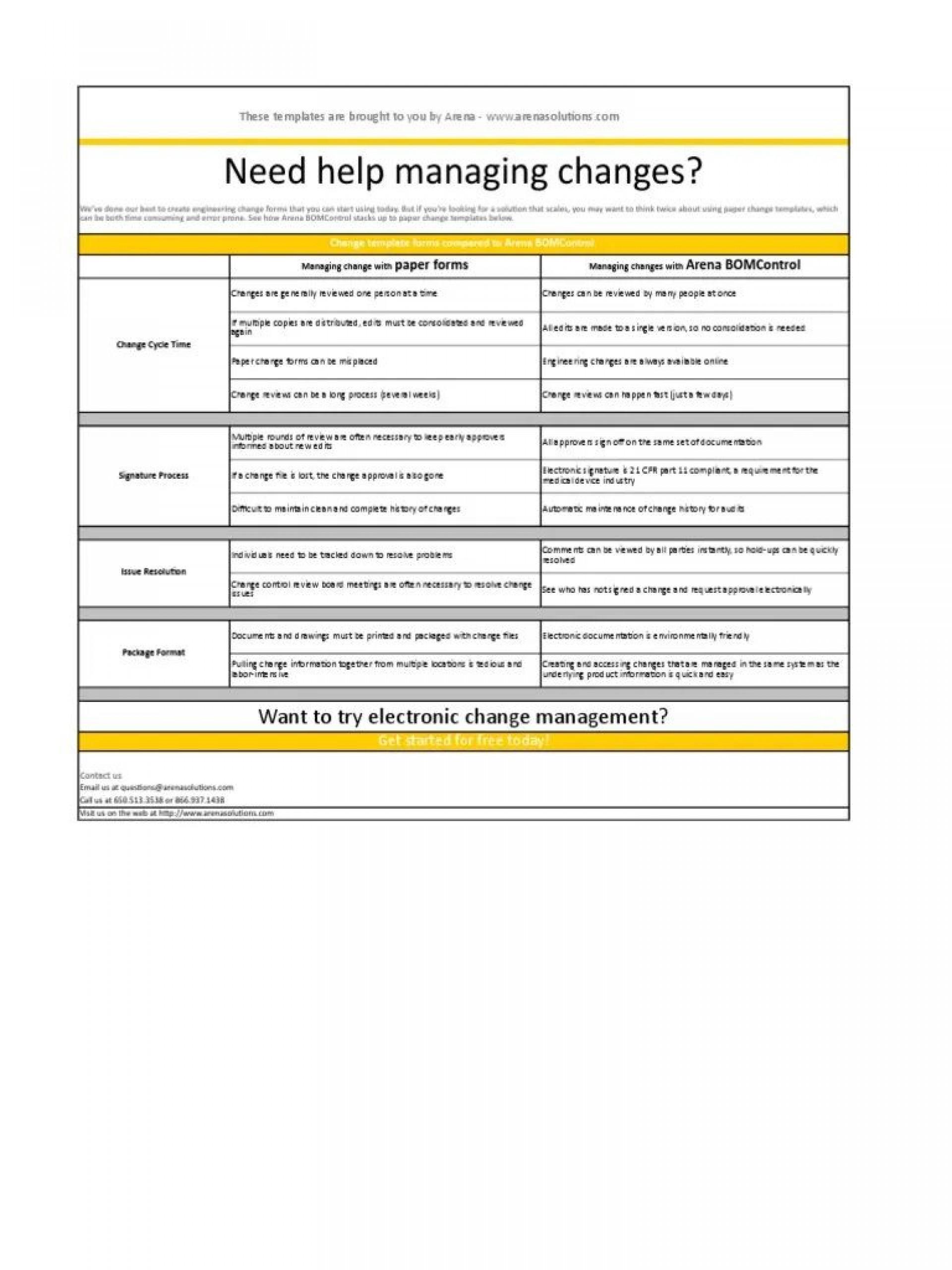 003 Simple Engineering Change Order Template Sample 1920