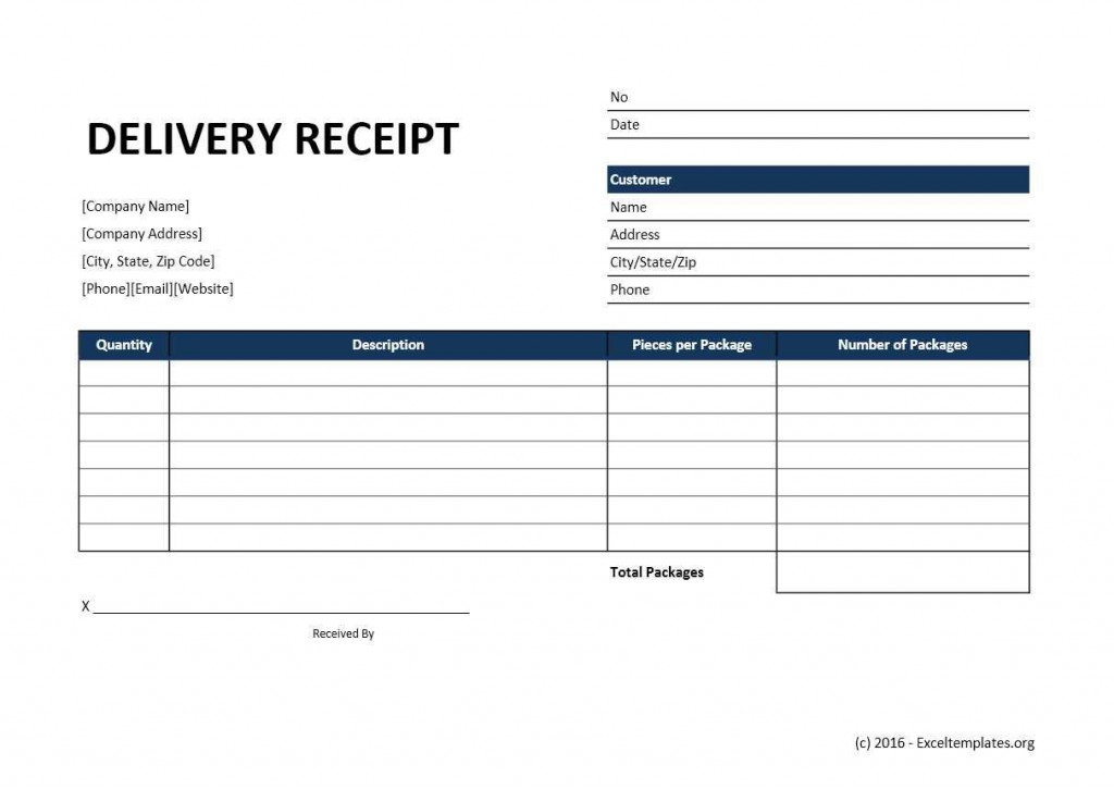 003 Simple Excel Receipt Template Download Highest Quality  Format Microsoft Delivery FreeLarge