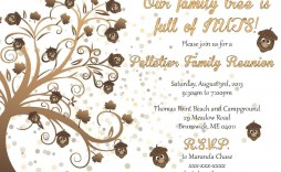 003 Simple Free Printable Family Reunion Invitation Template Highest Quality  Templates Flyer