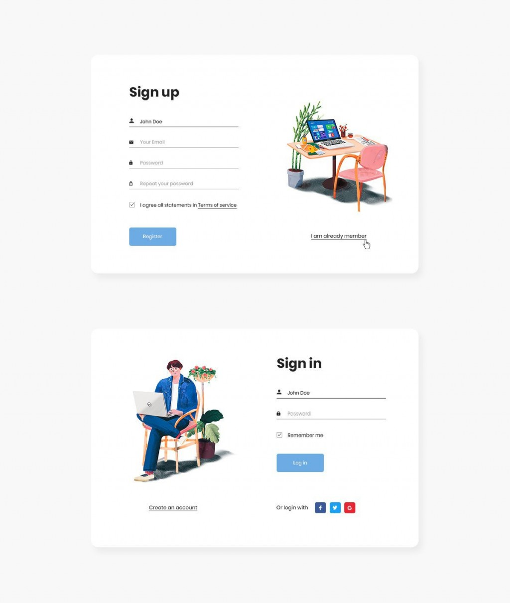 003 Simple Free Registration Form Template High Definition  Templates Responsive Bootstrap Download In Html Employee CsLarge