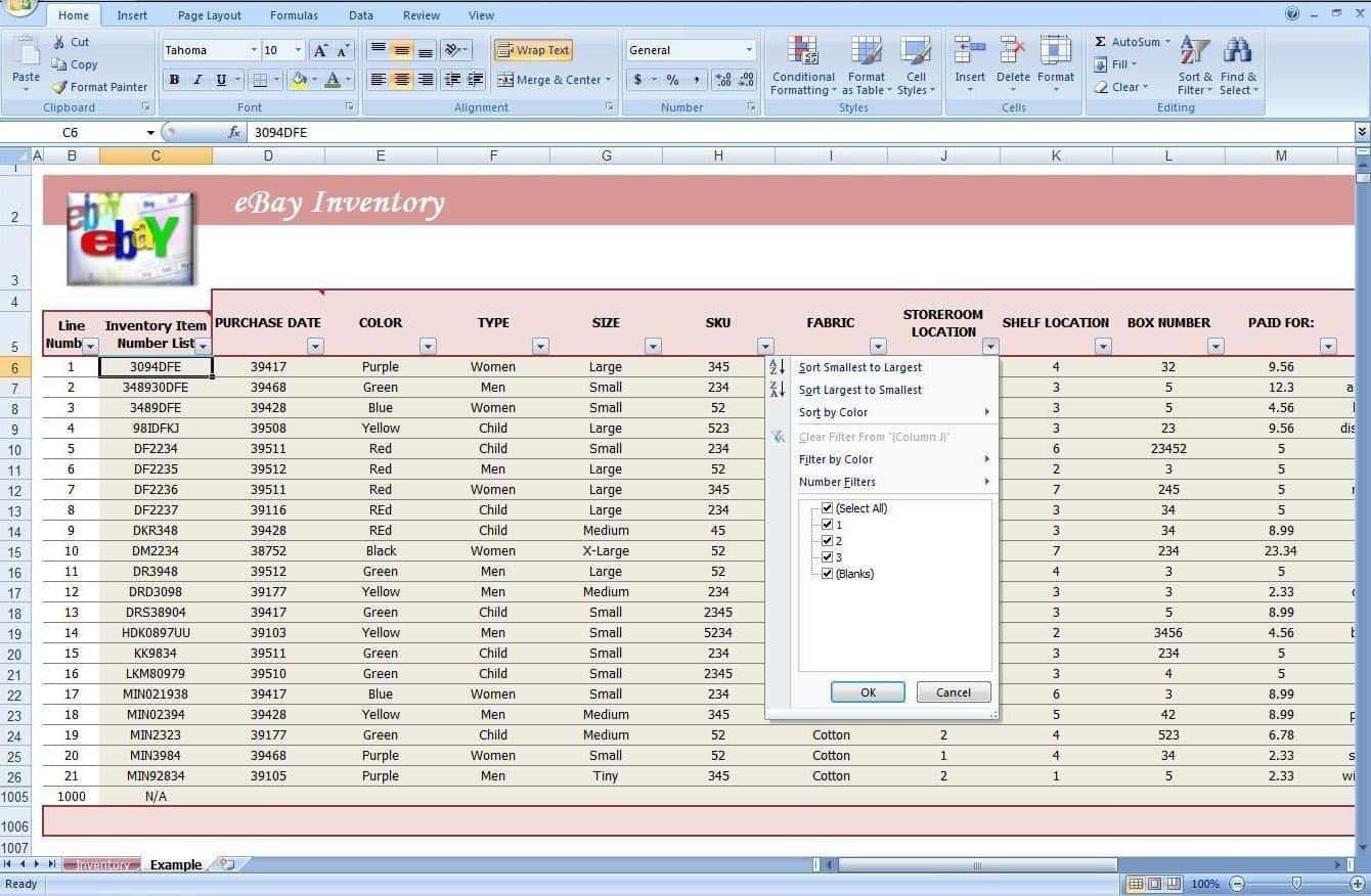 003 Simple Free Stock Inventory Spreadsheet Template Photo Full