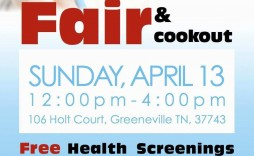 003 Simple Health Fair Flyer Template Free Design  Download