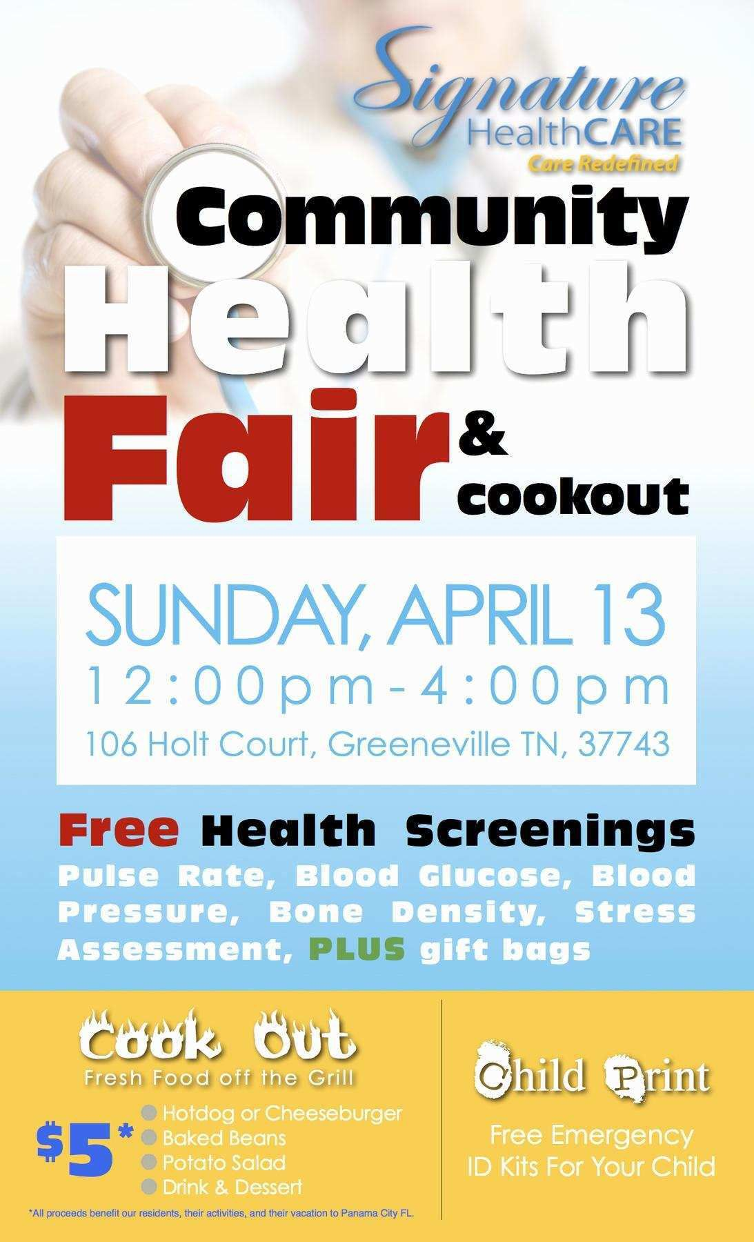 003 Simple Health Fair Flyer Template Free Design  DownloadFull